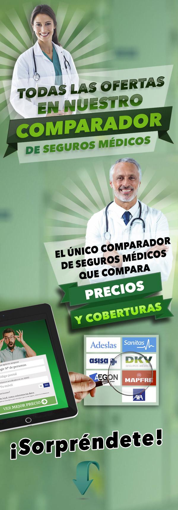 Todas las ofertas en nuestro comparador de seguros médicos
